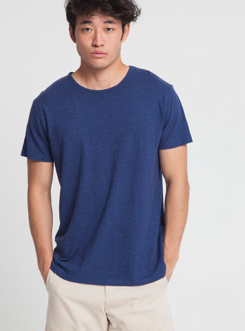 Marino hemp t-shirt - blue marino