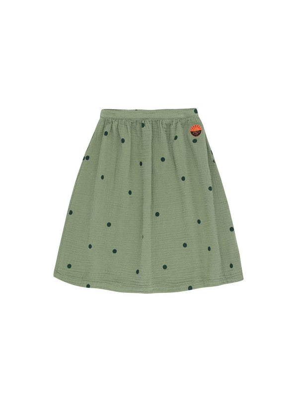 Tinycottons baby 2y Dots sunset - long skirt - green wood/bottle green