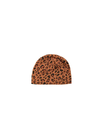 Animal print - baby hat - brown/dark brown