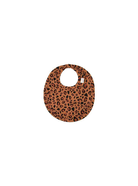 Animal print - bib - brown/dark brown