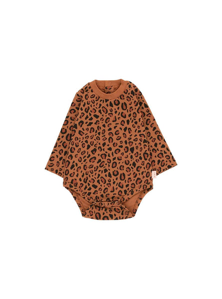 Animal print - long sleeve body - brown/dark brown