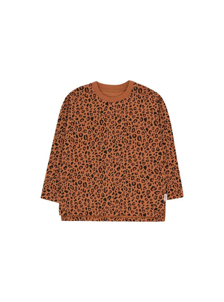 Animal print - long sleeve tee - brown /dark brown