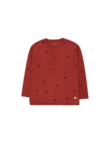 Dots - tee - dark brown/aubergine
