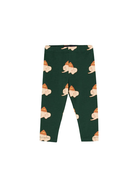 Luckyphant - pants - bottle green/light cream