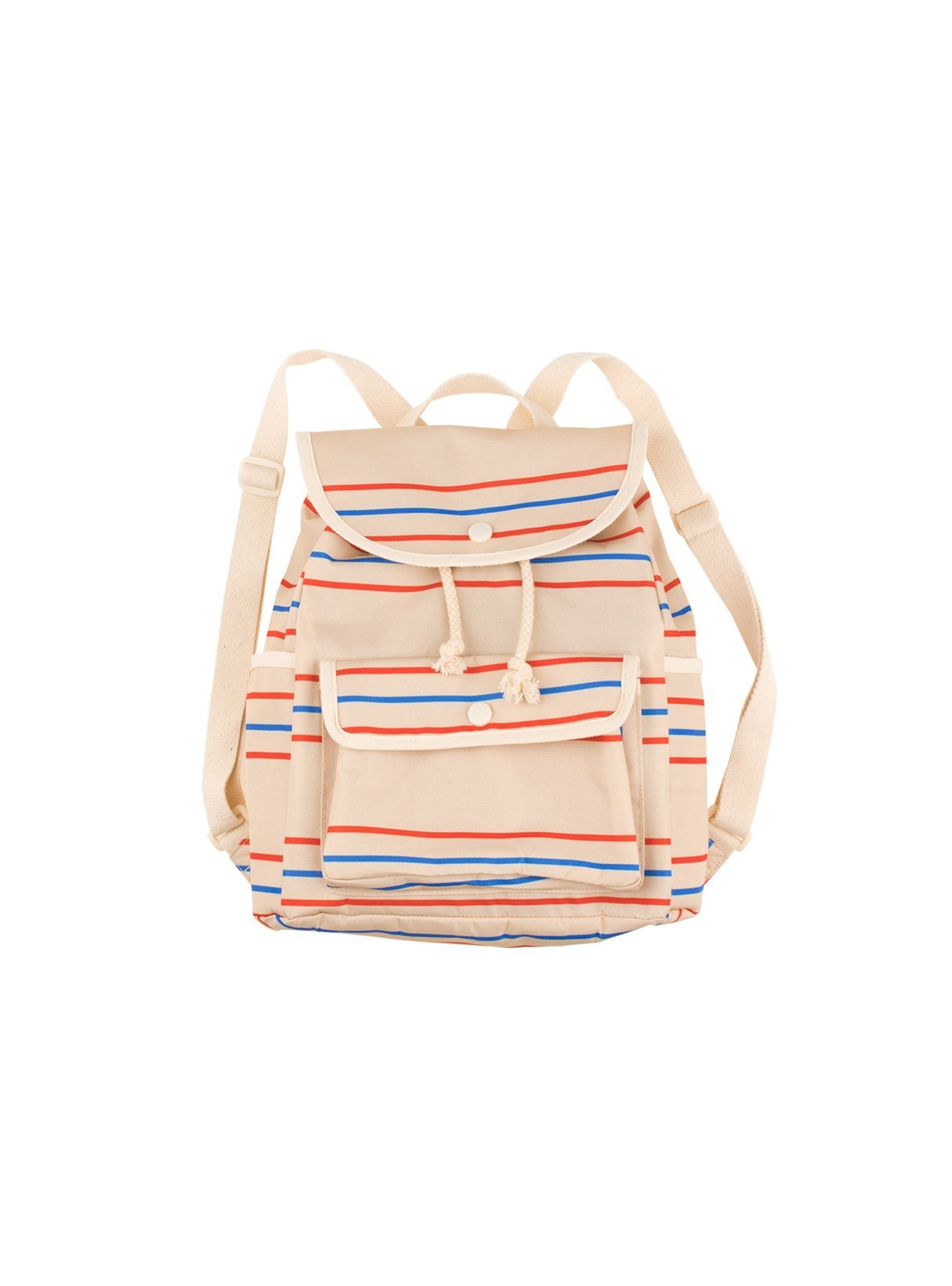 Retrolines backpack - cream/red/ultramarine