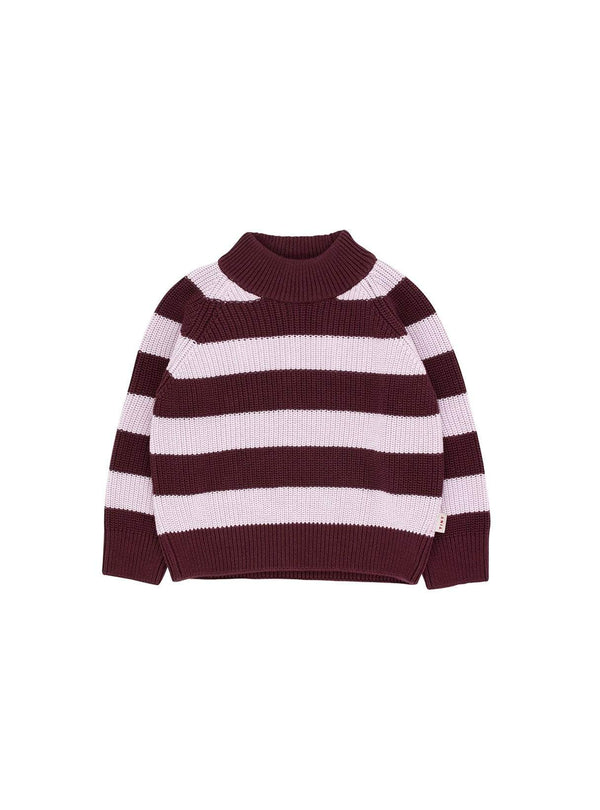 Tinycottons baby Stripes - sweater - aubergine/light lilac