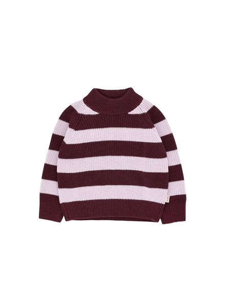 Stripes - sweater - aubergine/light lilac