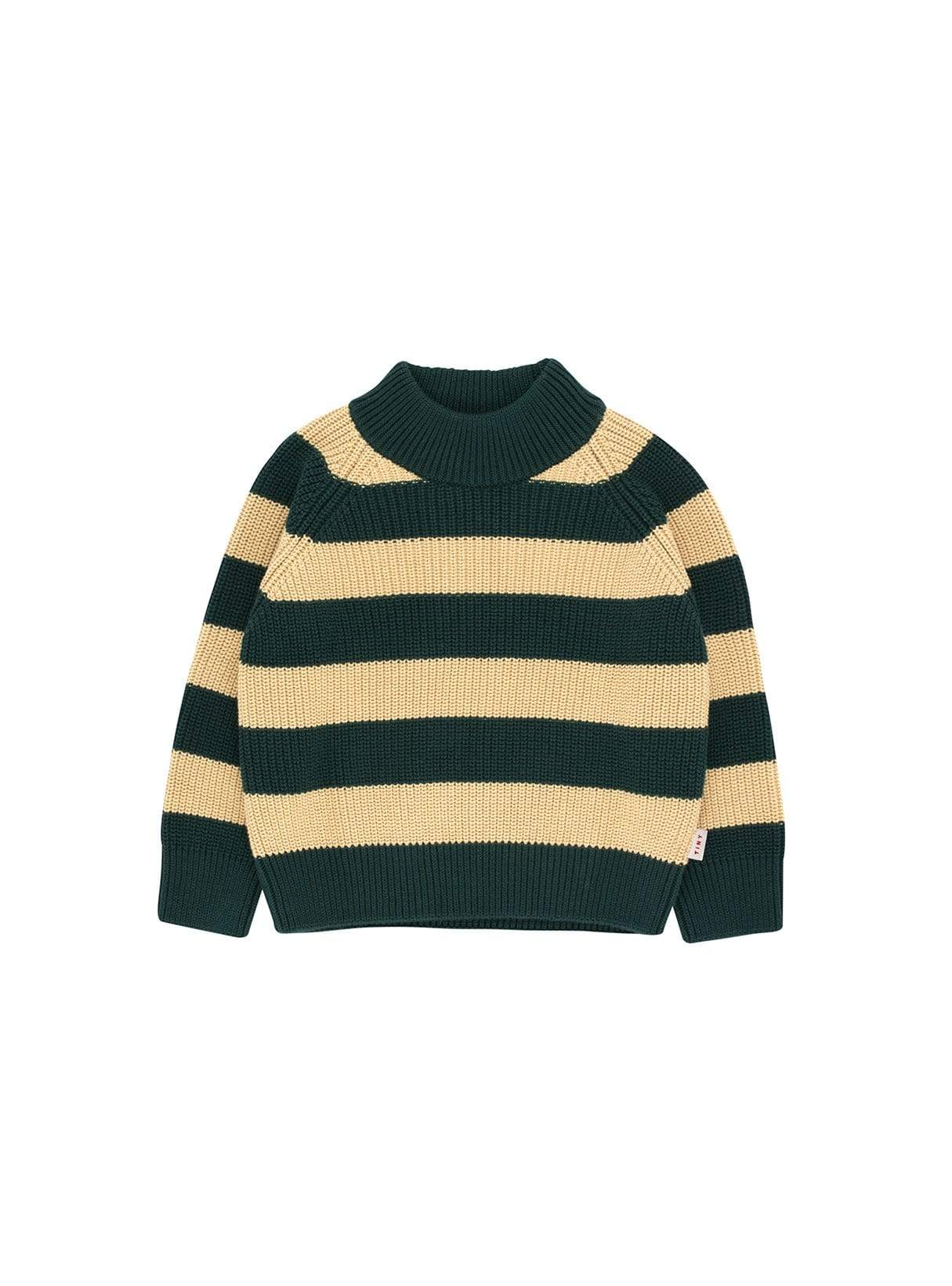 Stripes - sweater - bottle green/sand