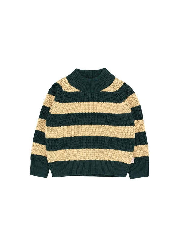 Tinycottons baby Stripes - sweater - bottle green/sand