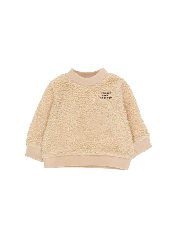 Tinycottons baby You are lucky - baby sweatshirt - sand/aubergine