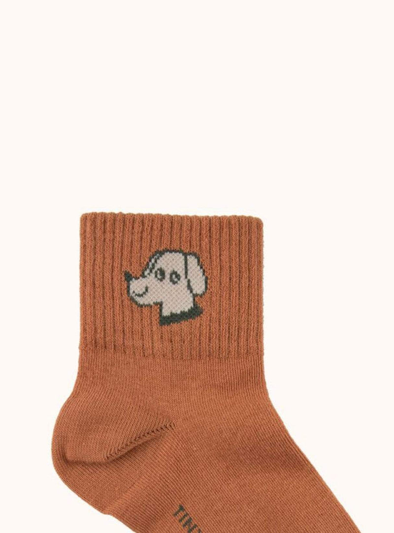tinycottons Kids accessories Dog - quarter socks - cinnamon/cappuccino