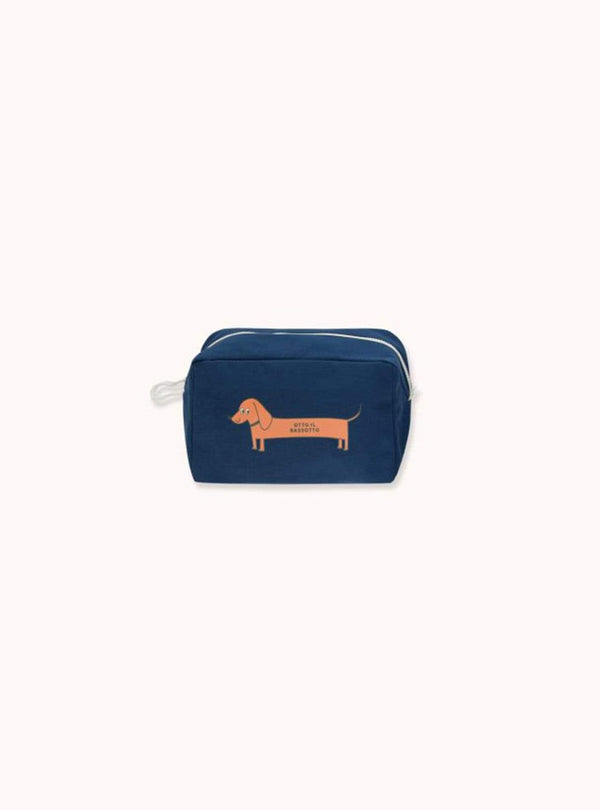 tinycottons Kids accessories Il bassotto - pouch - light navy/brick
