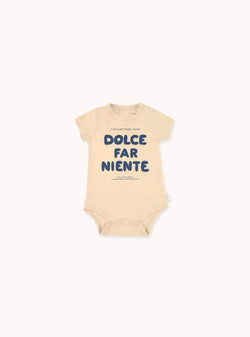 tinycottons Kids bodies Dolce far niente - body - cappuccino/light grey
