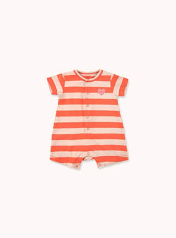 tinycottons Kids bodies Heart stripes - one-piece - light nude/red