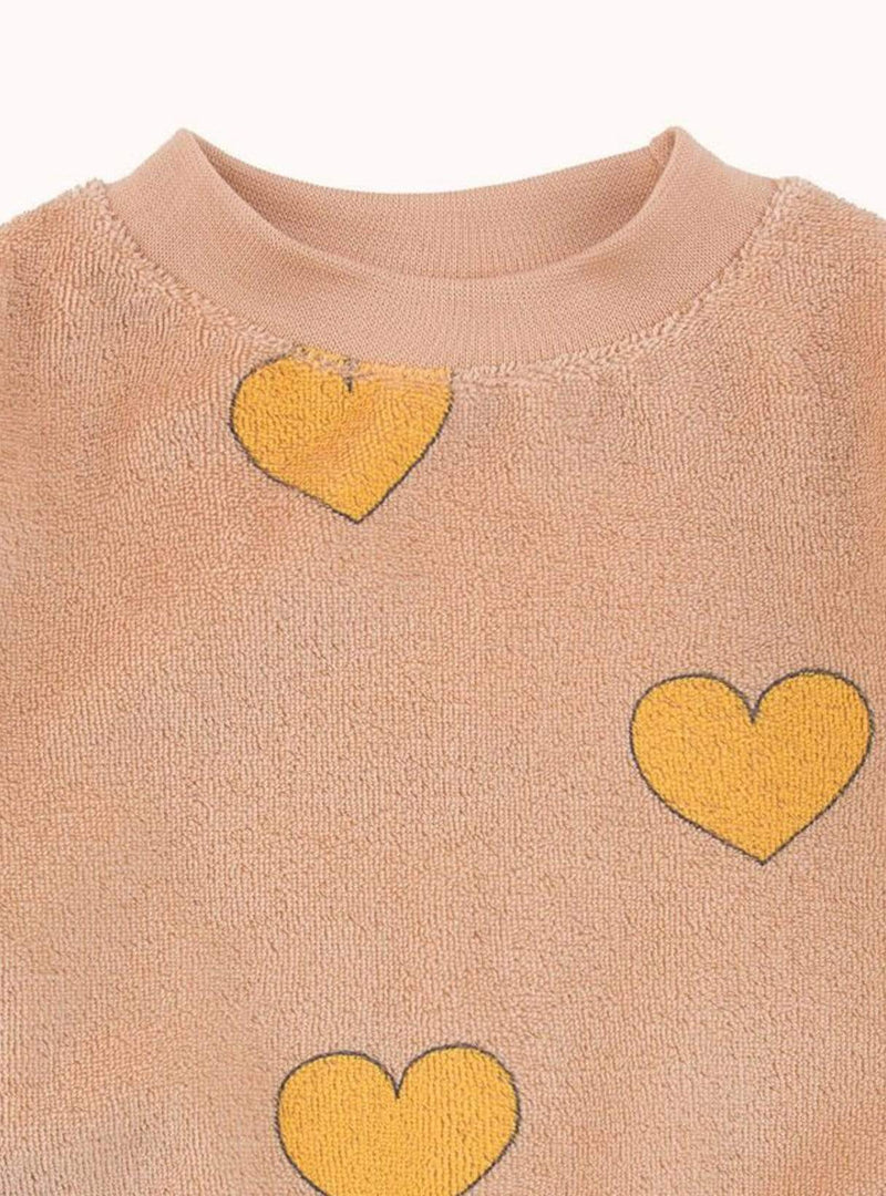 tinycottons Kids bodies Hearts - sweatshirt - light nude/yellow