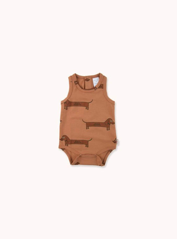 tinycottons Kids bodies Il bassotto - body - tan/dark brown