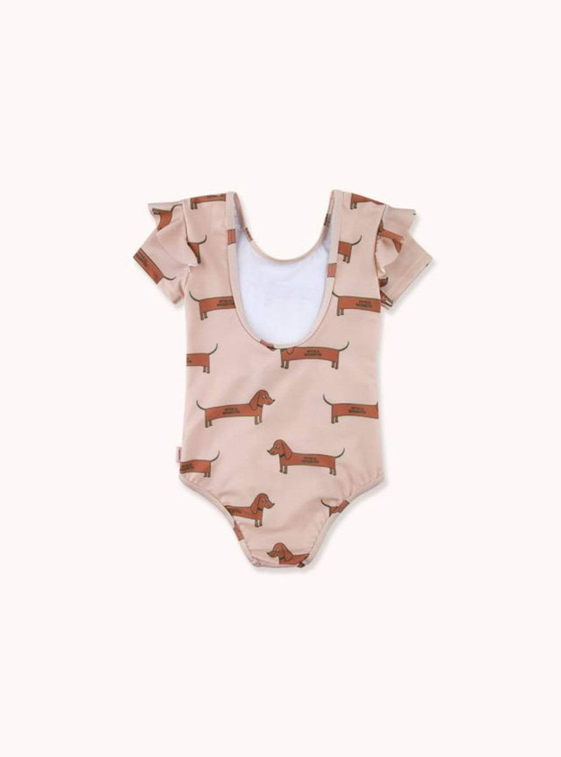 tinycottons Kids bodies Il bassotto - frills swimsuit - light nude/cinnamon