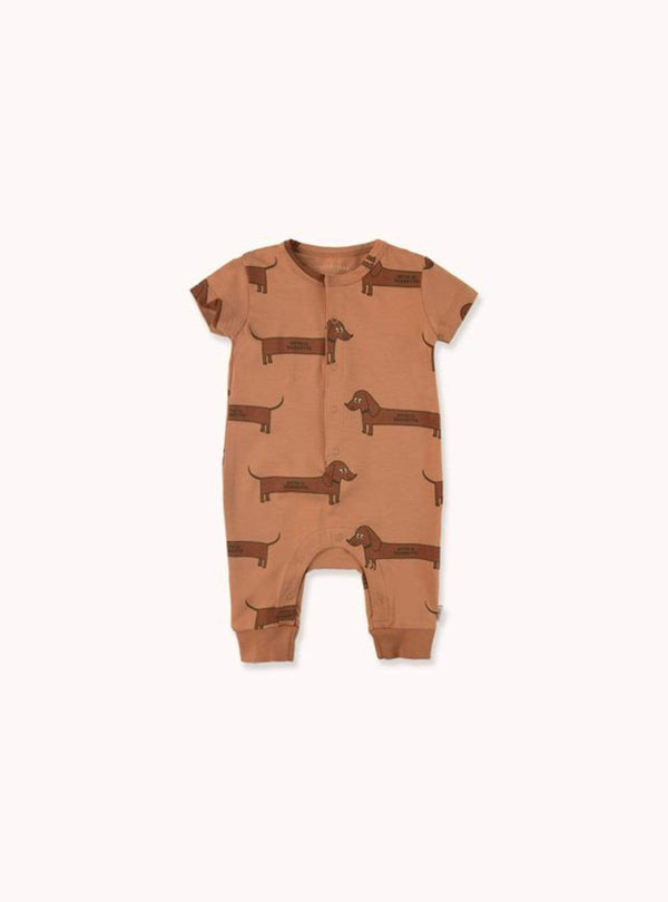 tinycottons Kids bodies Il bassotto - one-piece - tan/dark brown
