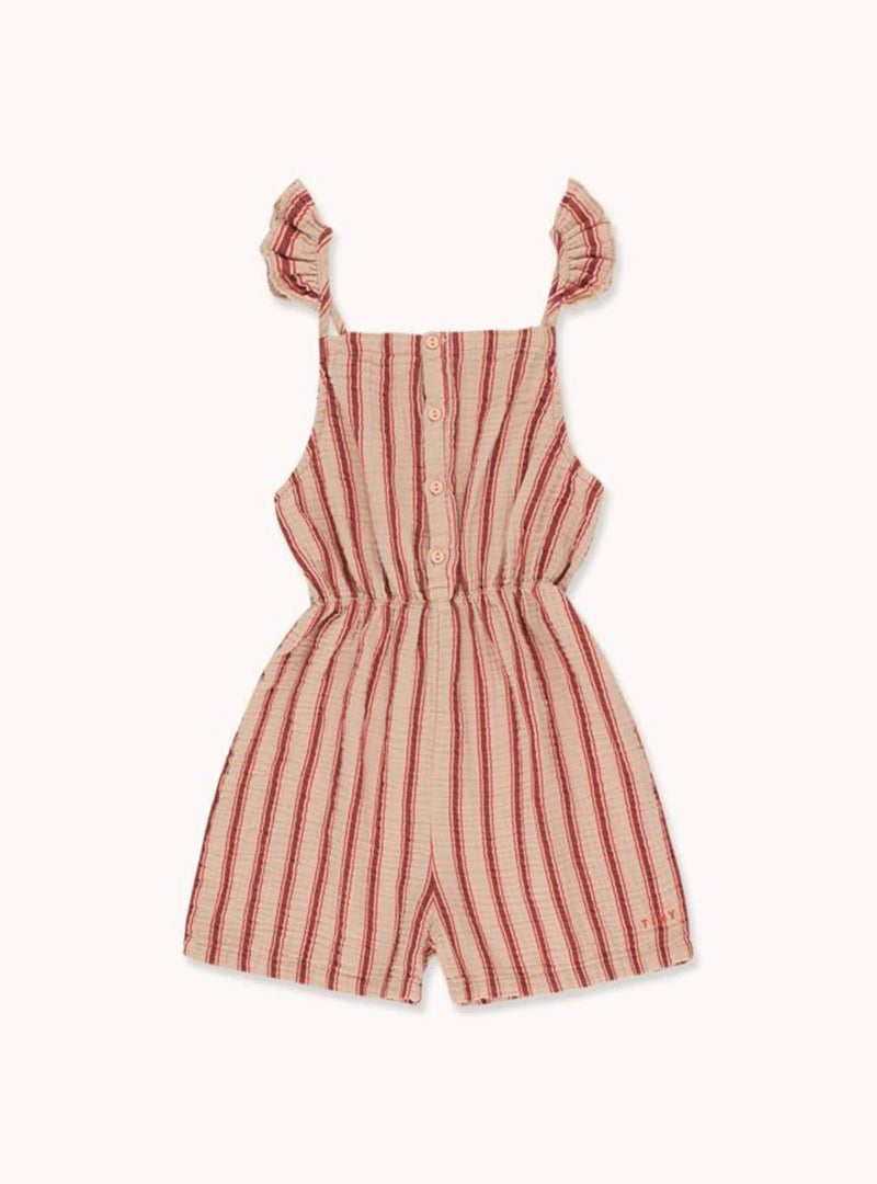 tinycottons Kids bodies Retro stripes - romper - light nude/dark brown