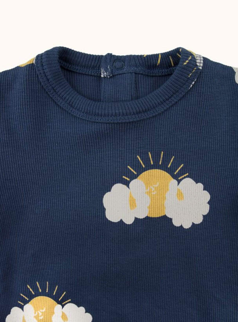 tinycottons Kids bodies Sleepy sun - body - light navy/yellow