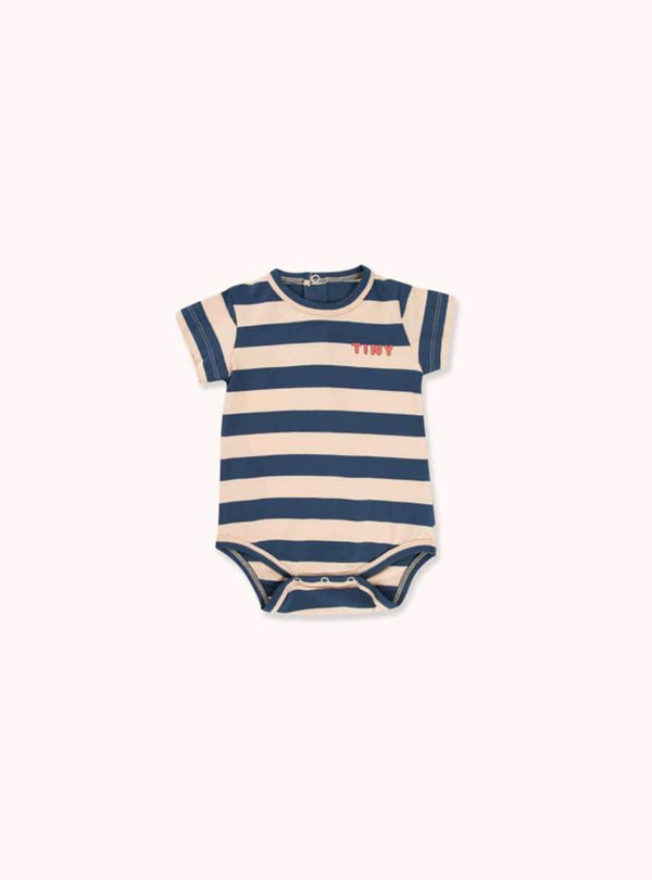 tinycottons Kids bodies Tiny stripes - body - cappuccino/light navy