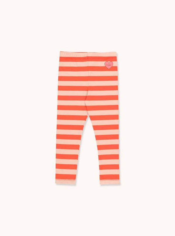 Heart stripes - pant - light nude/red