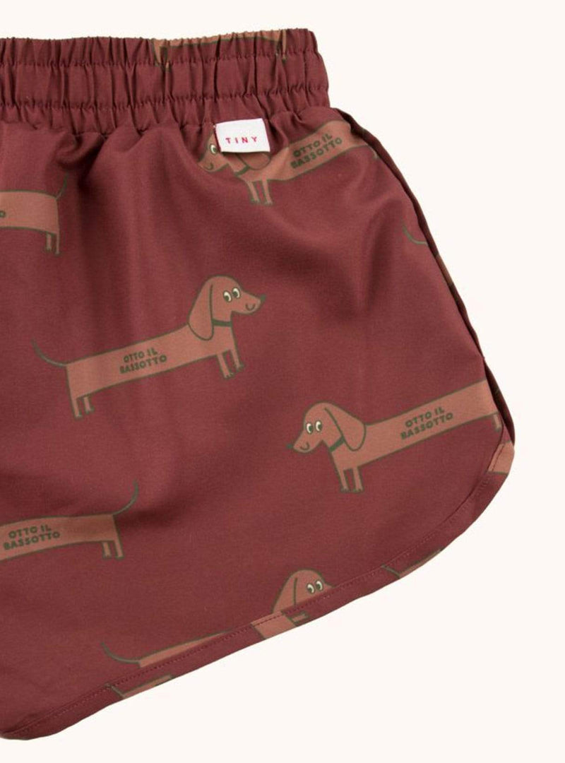 tinycottons Kids bottoms Il bassotto - trunks - dark brown/cinnamon