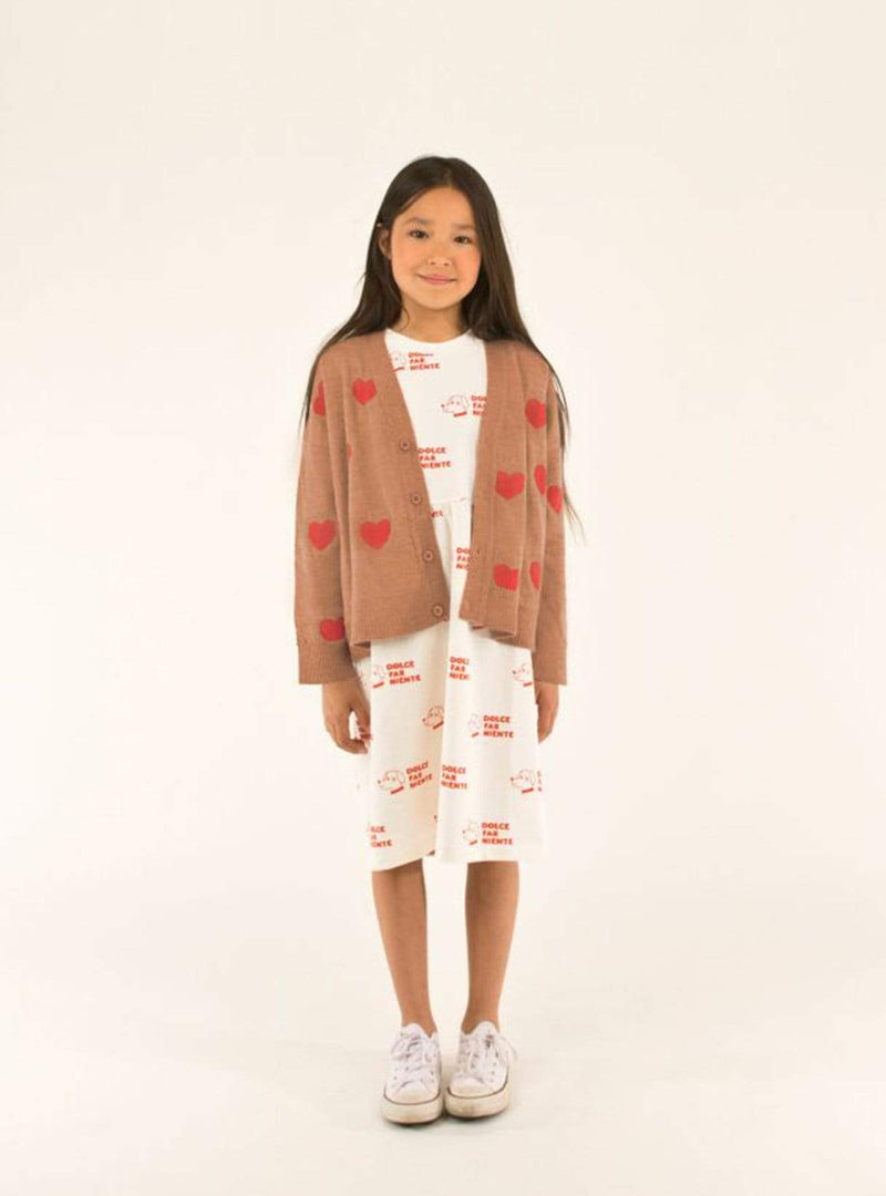 tinycottons Kids tops Hearts - cardigan - tan/red