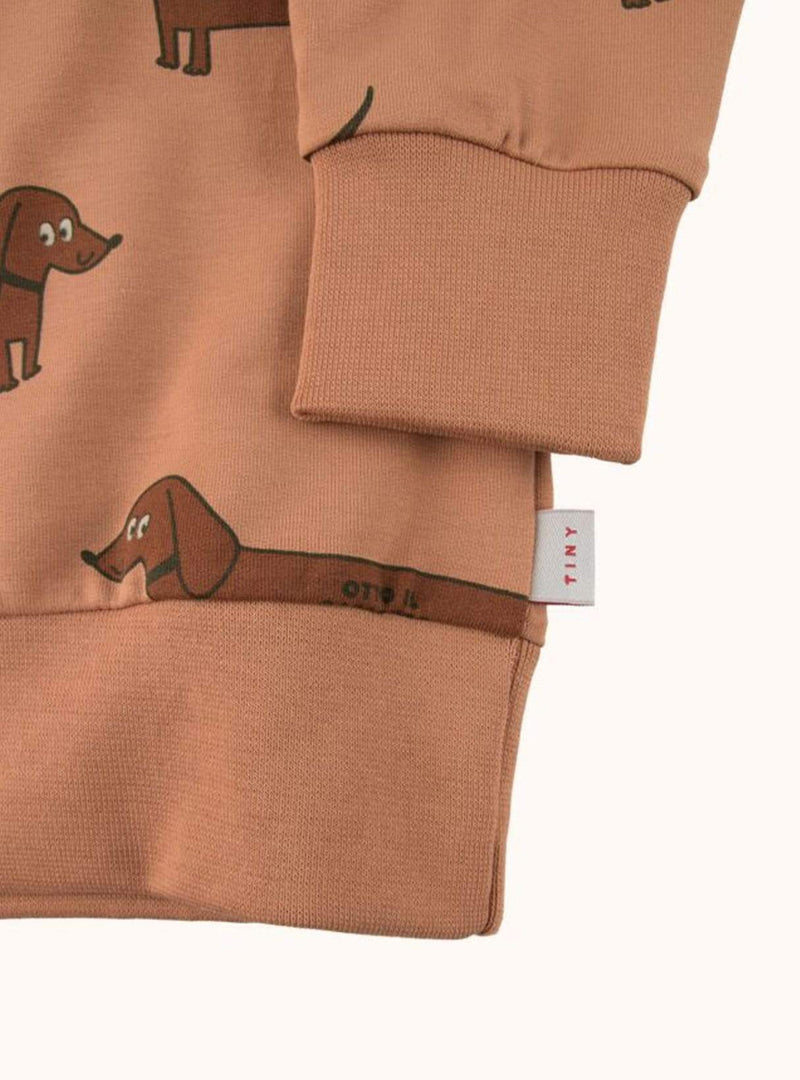 tinycottons Kids tops Il bassatto - sweatshirt - tan/dark brown