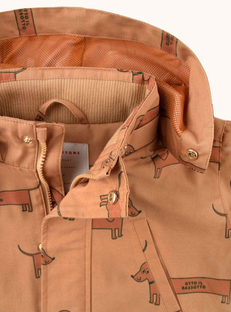 tinycottons Kids tops Il bassotto - jacket - tan/cinnamon