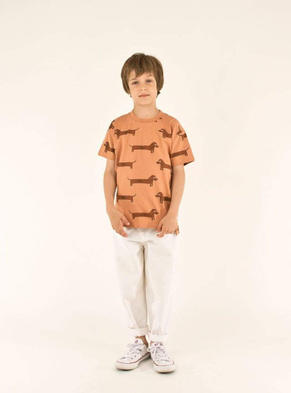 tinycottons Kids tops Il bassotto - tee - tan/dark brown