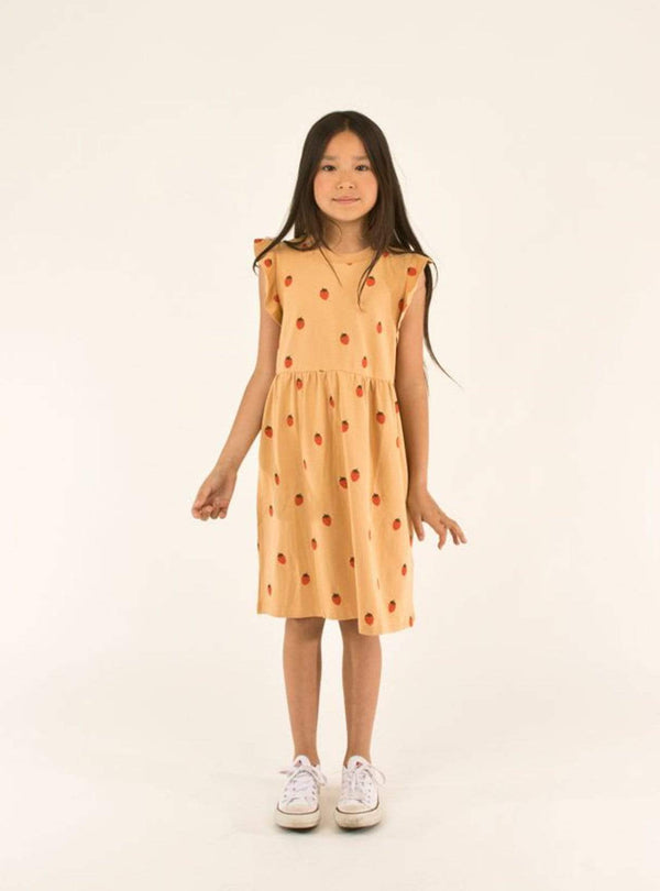 tinycottons Kids tops Strawberries - dress - toffee/red