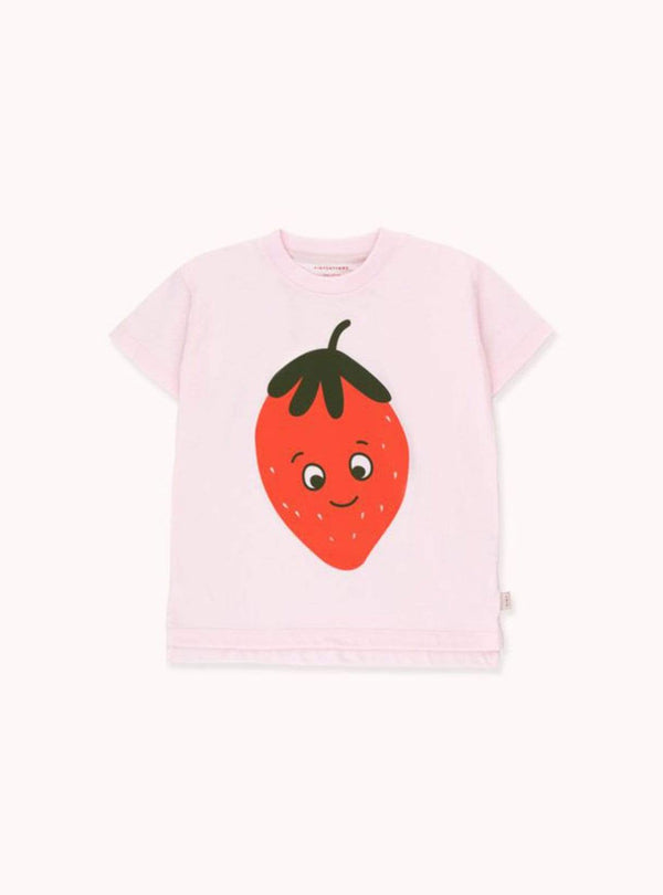 tinycottons Kids tops Strawberries - tee - light pink/red
