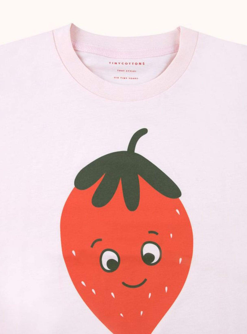 Strawberries - tee - light pink/red