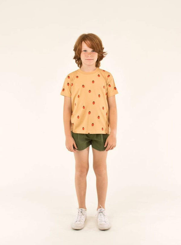 tinycottons Kids tops Strawberries - tee - toffee/red