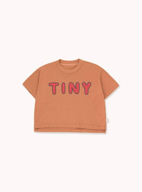 tinycottons Kids tops Tiny - crop tee - tan/red