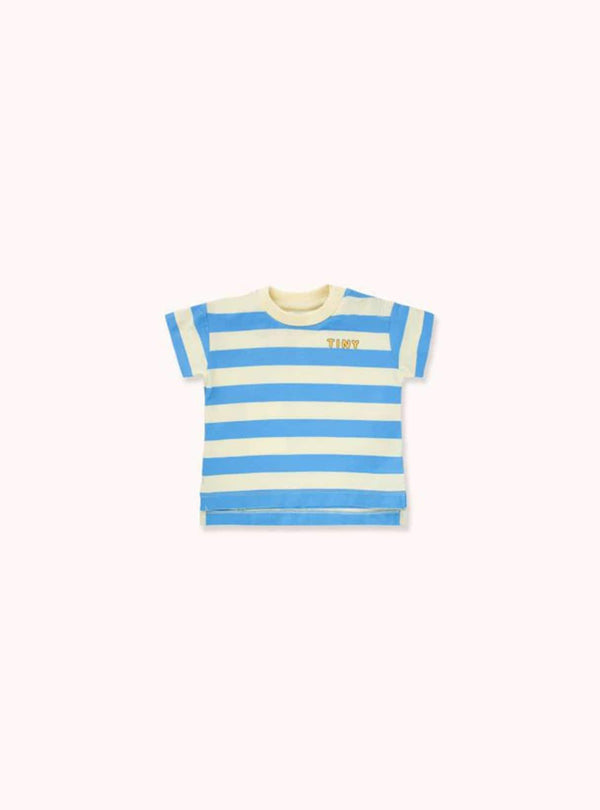 tinycottons Kids tops Tiny stripes - tee - lemonade/cerulean blue
