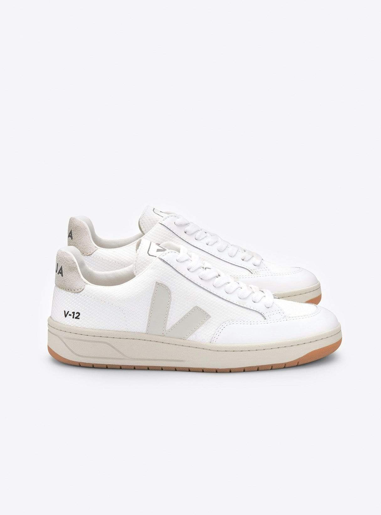 V-12 b-mesh sneaker - white/natural
