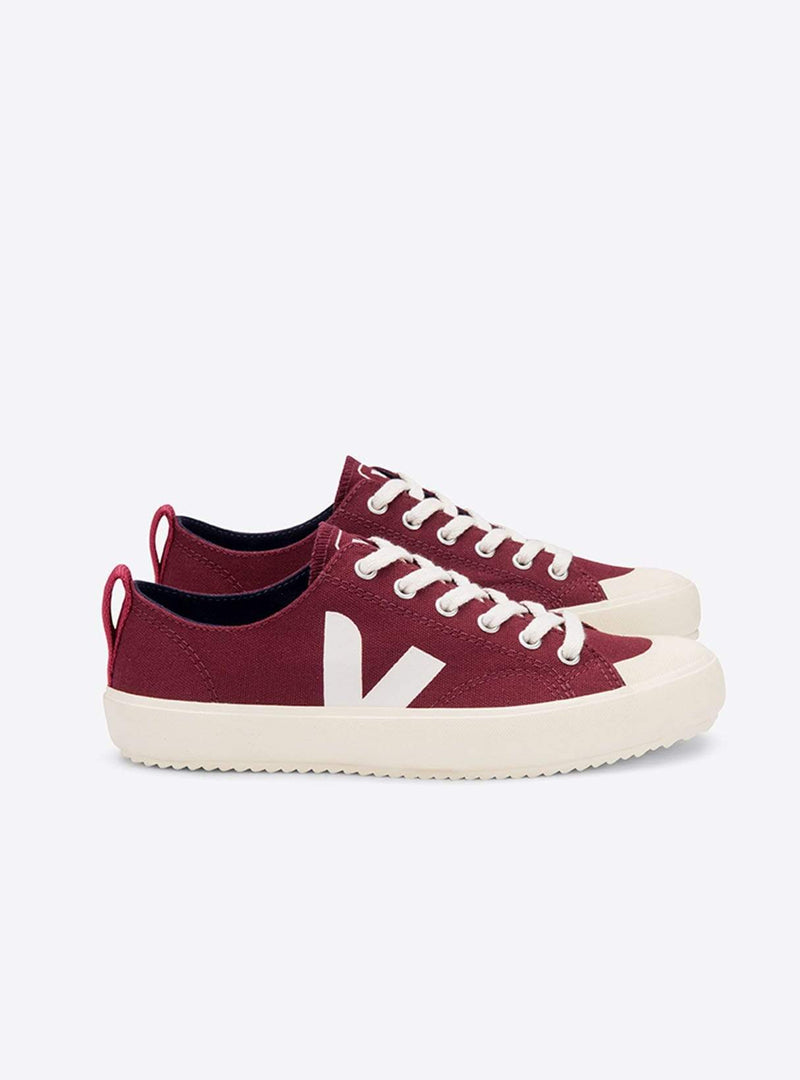 Nova canvas sneaker - amarante/butter-sole