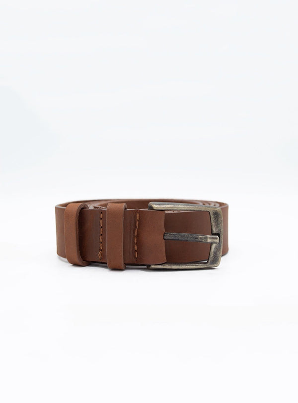 werner Mens accessories Leather belt - dark brown