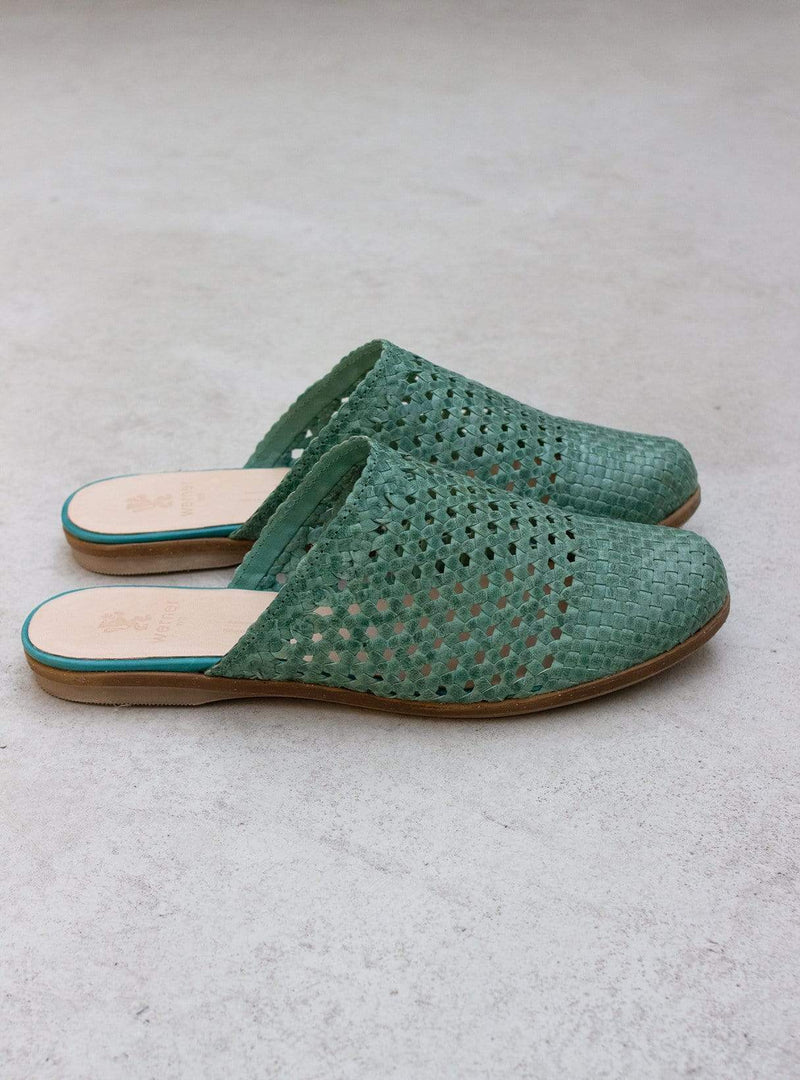 Beate - slipper - teal