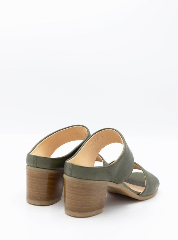 werner Womens shoes Duo strap leather sandals - sage