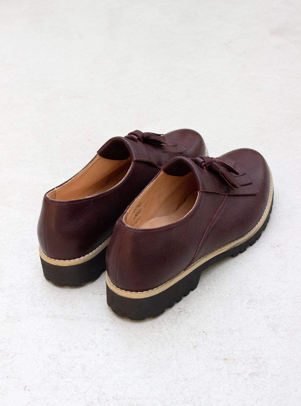 werner Womens shoes Loafers - bordeaux red