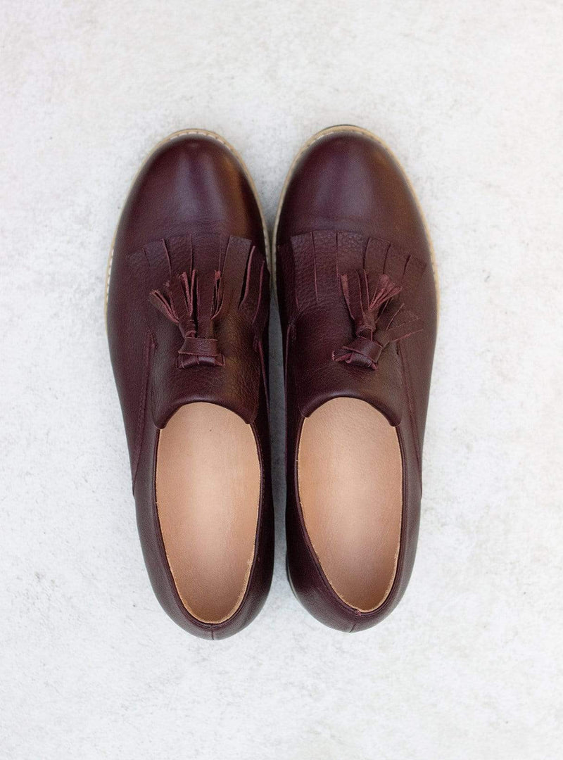 Loafers - bordeaux red