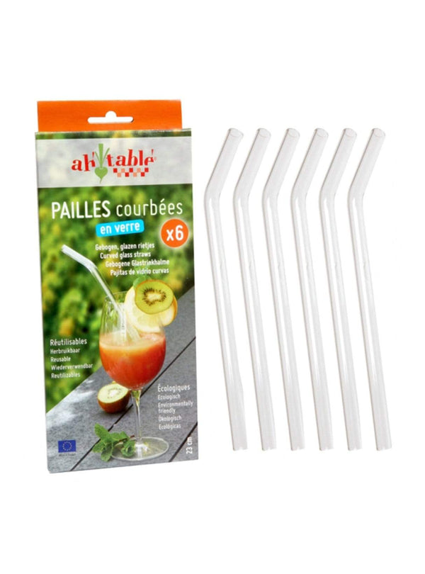zero waste Zero waste Glass straws - 6 pieces