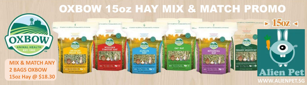 PROMO - Any Two bags of Oxbow 15oz Hay MIX & MATCH