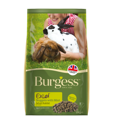 Burgess Excel - (with Mint) Adult Rabbit Nuggets