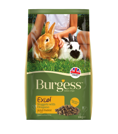 Burgess Excel - Rabbit Adult Nuggets with Oregano