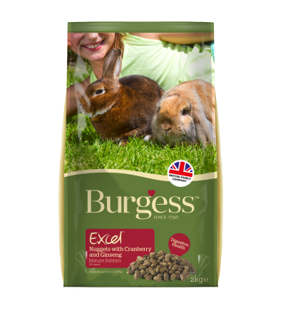 Burgess Excel - Mature Rabbit Nuggets with Cranberry and Ginseng