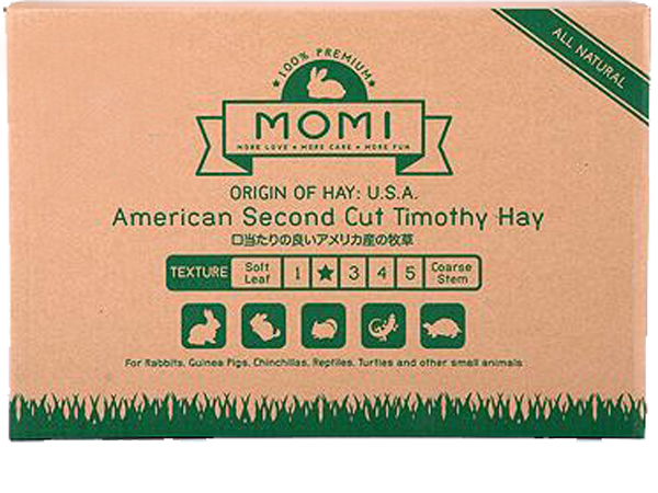 Momi 2nd cut Timothy 10kg (4 x 2.5Kg Bags In One Carton) -  No Alien$